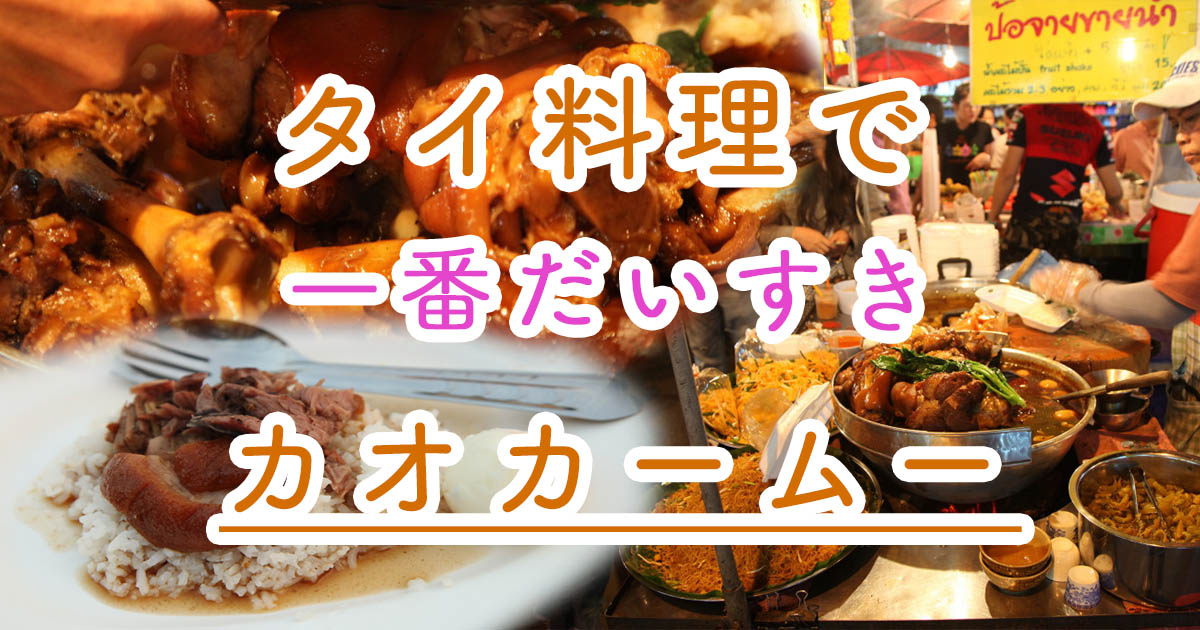 チェンマイで食べた激ウマなタイ料理「カオ・カームー」と動物園と温泉