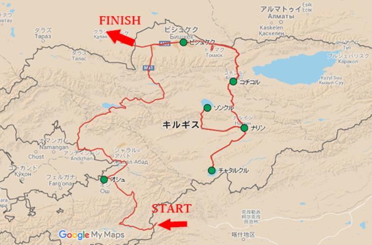 キルギスマップ