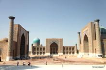ウズベキスタン・青の都サマルカンドの親しみのある人々