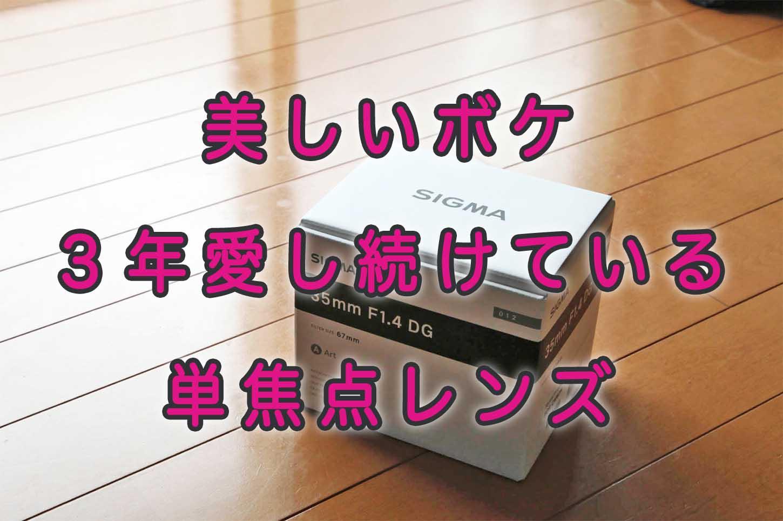 「SIGMA 35mm F1.4 DG HSM」3年愛し続けている単焦点レンズ【美しいボケ】